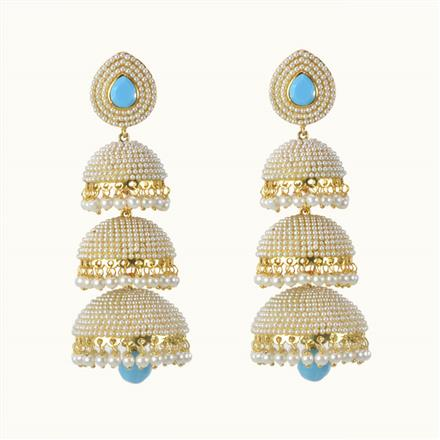 10488 Antique Jhumki with gold plating