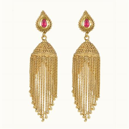 10490 Antique Jhumki with gold plating