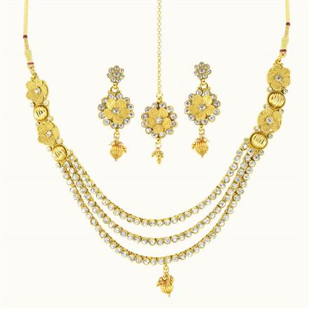 10492 Antique Classic Necklace with gold plating