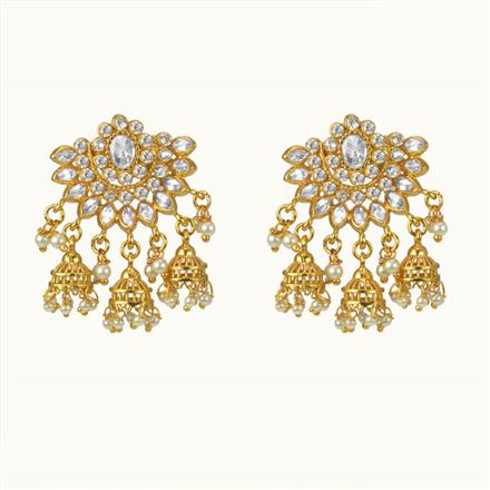 10494 Antique Jhumki with gold plating
