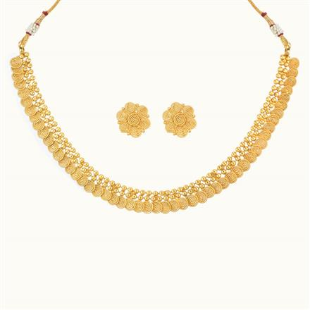 10497 Antique Delicate Necklace with gold plating