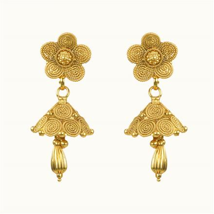 10501 Antique Jhumki with gold plating