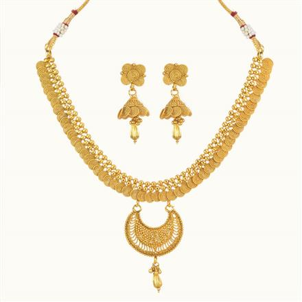10502 Antique Delicate Necklace with gold plating