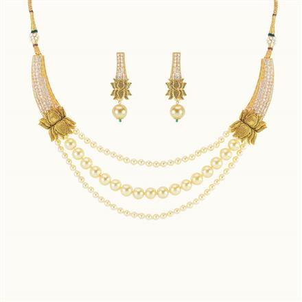 10505 Antique Mala Necklace with gold plating