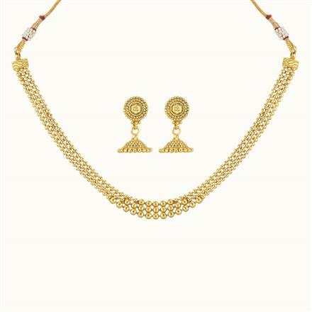 10506 Antique Delicate Necklace with gold plating