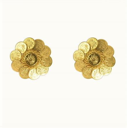 10512 Antique Temple Earring with gold plating