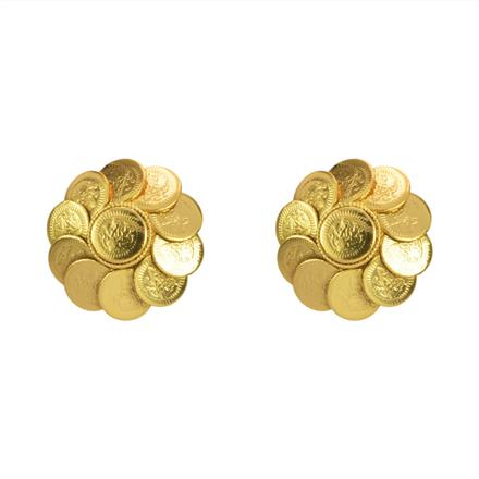 10515 Antique Temple Earring with gold plating
