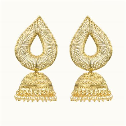 10524 Antique Jhumki with gold plating