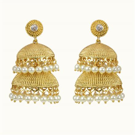 10527 Antique Jhumki with gold plating