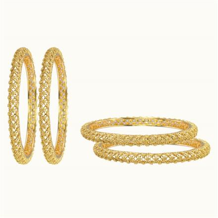 10532 Antique Plain Gold Bangles