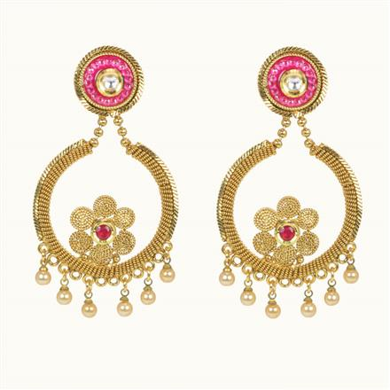 10545 Antique Classic Earring with gold plating