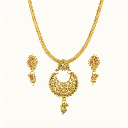 10568 Antique Delicate Pendant Set with gold plating