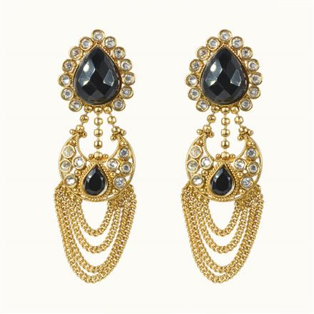 10586 Antique Chand Earring with gold plating