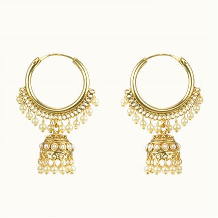10588 Antique Jhumki with gold plating