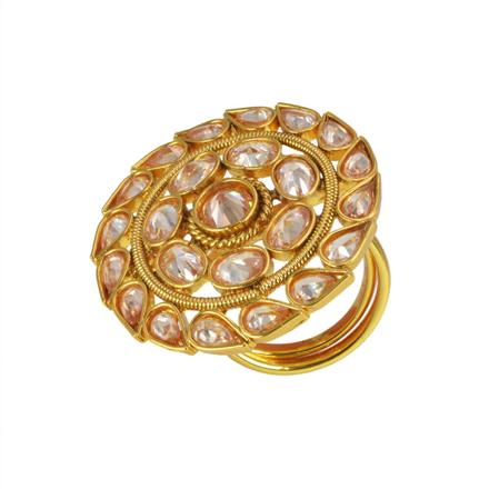 10589 Antique Classic Ring with gold plating