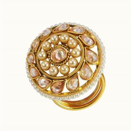 10590 Antique Classic Ring with gold plating