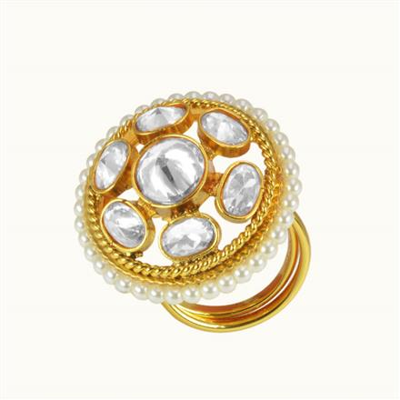 10593 Antique Classic Ring with gold plating