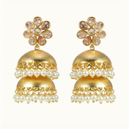 10598 Antique Jhumki with gold plating