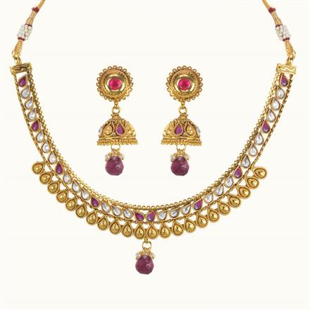 10599 Antique Delicate Necklace with gold plating