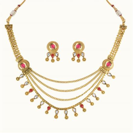 10601 Antique Classic Necklace with gold plating