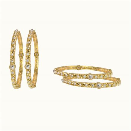 10602 Antique Classic Bangles with gold plating