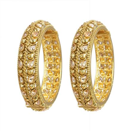 10603 Antique Openable Bangles with gold plating