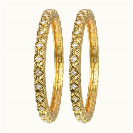 10604 Antique Classic Bangles with gold plating