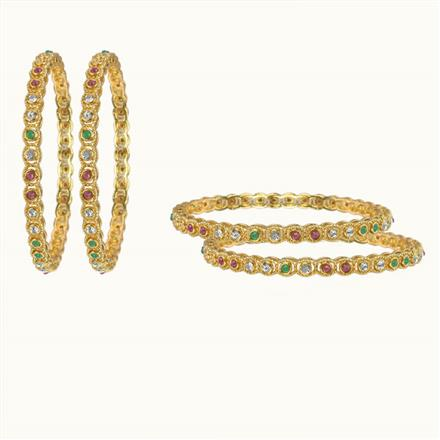10605 Antique Classic Bangles with gold plating