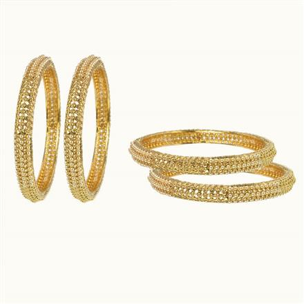 10606 Antique Classic Bangles with gold plating