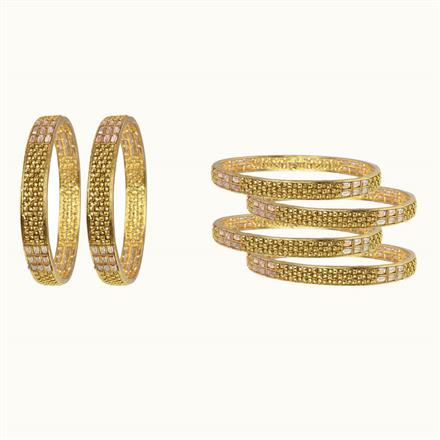 10607 Antique Classic Bangles with gold plating