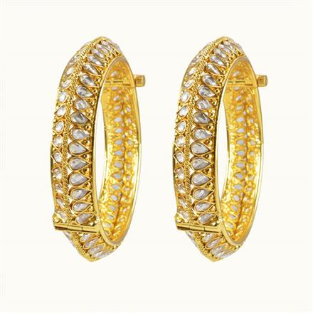 10608 Antique Openable Bangles with gold plating