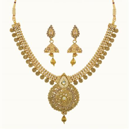 10614 Antique Classic Necklace with gold plating