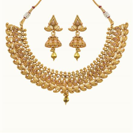 10615 Antique Classic Necklace with gold plating