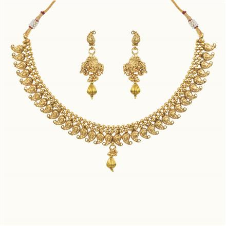 10616 Antique Delicate Necklace with gold plating