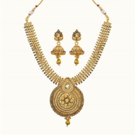 10618 Antique Classic Necklace with gold plating