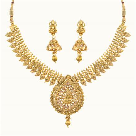 10620 Antique Temple Necklace with gold plating