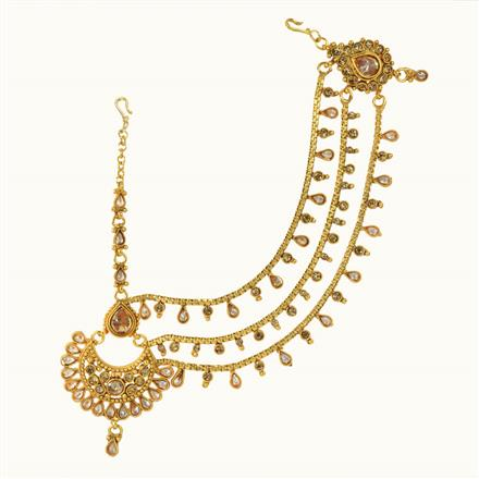 10621 Antique Half Damini with gold plating