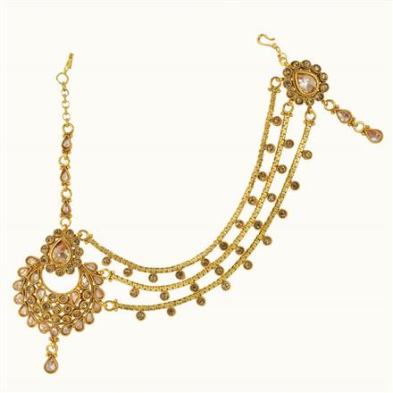 10622 Antique Half Damini with gold plating