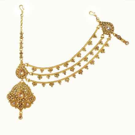 10623 Antique Half Damini with gold plating