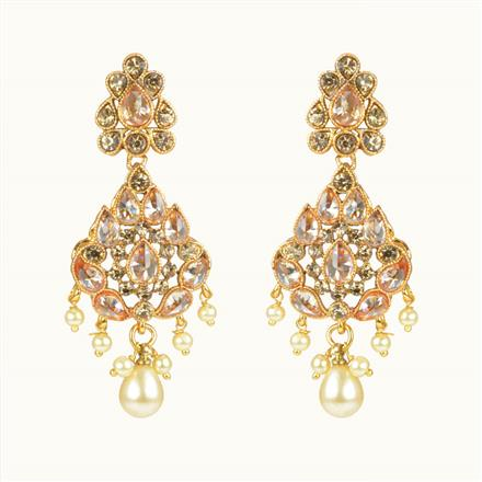 10628 Antique Classic Earring with gold plating