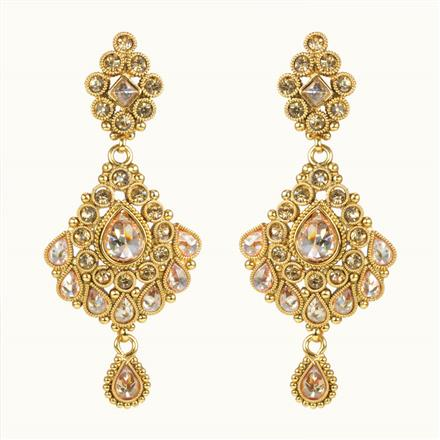 10629 Antique Classic Earring with gold plating