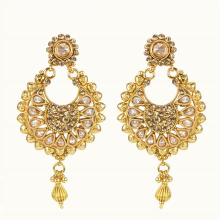 10630 Antique Classic Earring with gold plating