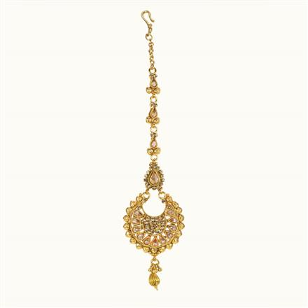10633 Antique Chand Tikka with gold plating