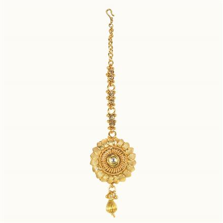10634 Antique Plain Gold Tikka
