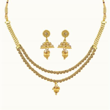 10635 Antique Delicate Necklace with gold plating
