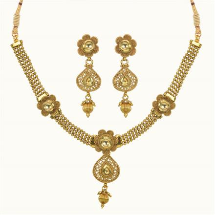10637 Antique Classic Necklace with gold plating