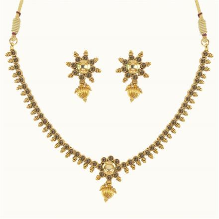10639 Antique Delicate Necklace with gold plating