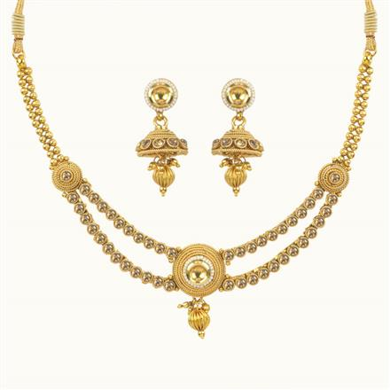 10640 Antique Delicate Necklace with gold plating
