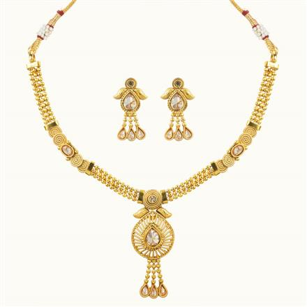 10642 Antique Delicate Necklace with gold plating