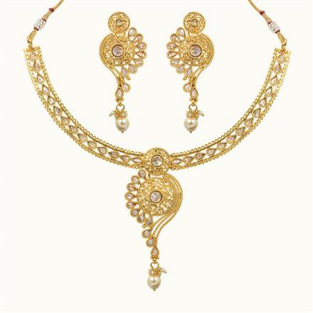 10643 Antique Classic Necklace with gold plating